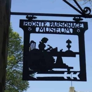 Bronte Parsonage Museum sign