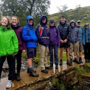 A group from London on a guided walk