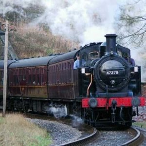KWVR steam train coming from tunnel