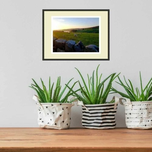 Tranquility print on wall