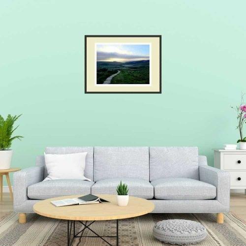 MidBarren Hills print on wall