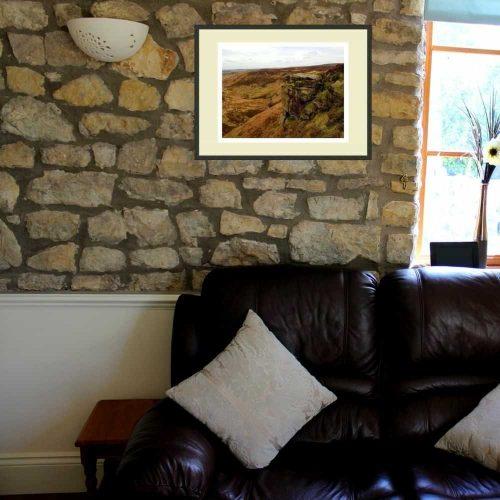 Ponden Kirk print on wall
